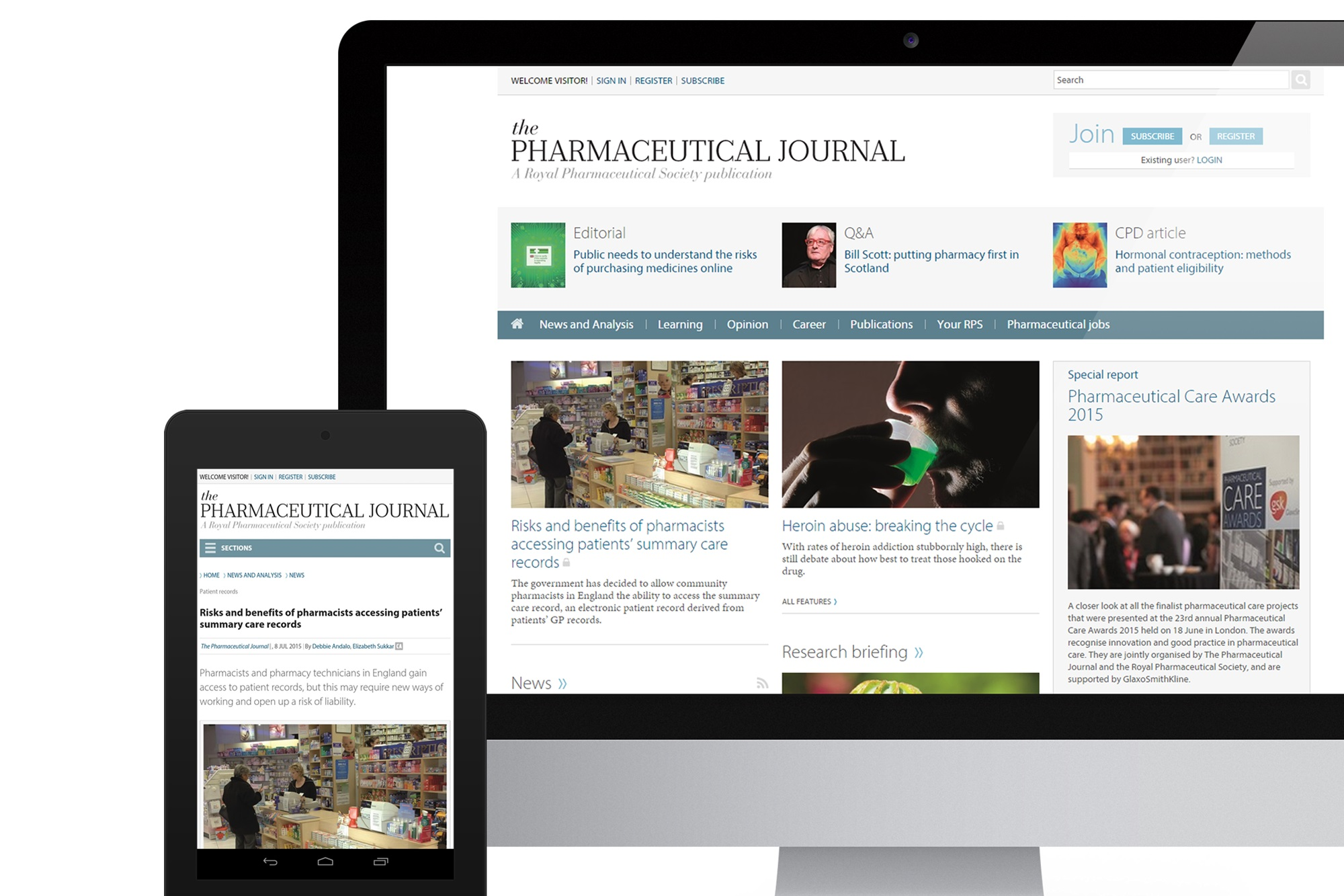 Pharmaceutical Journal website
