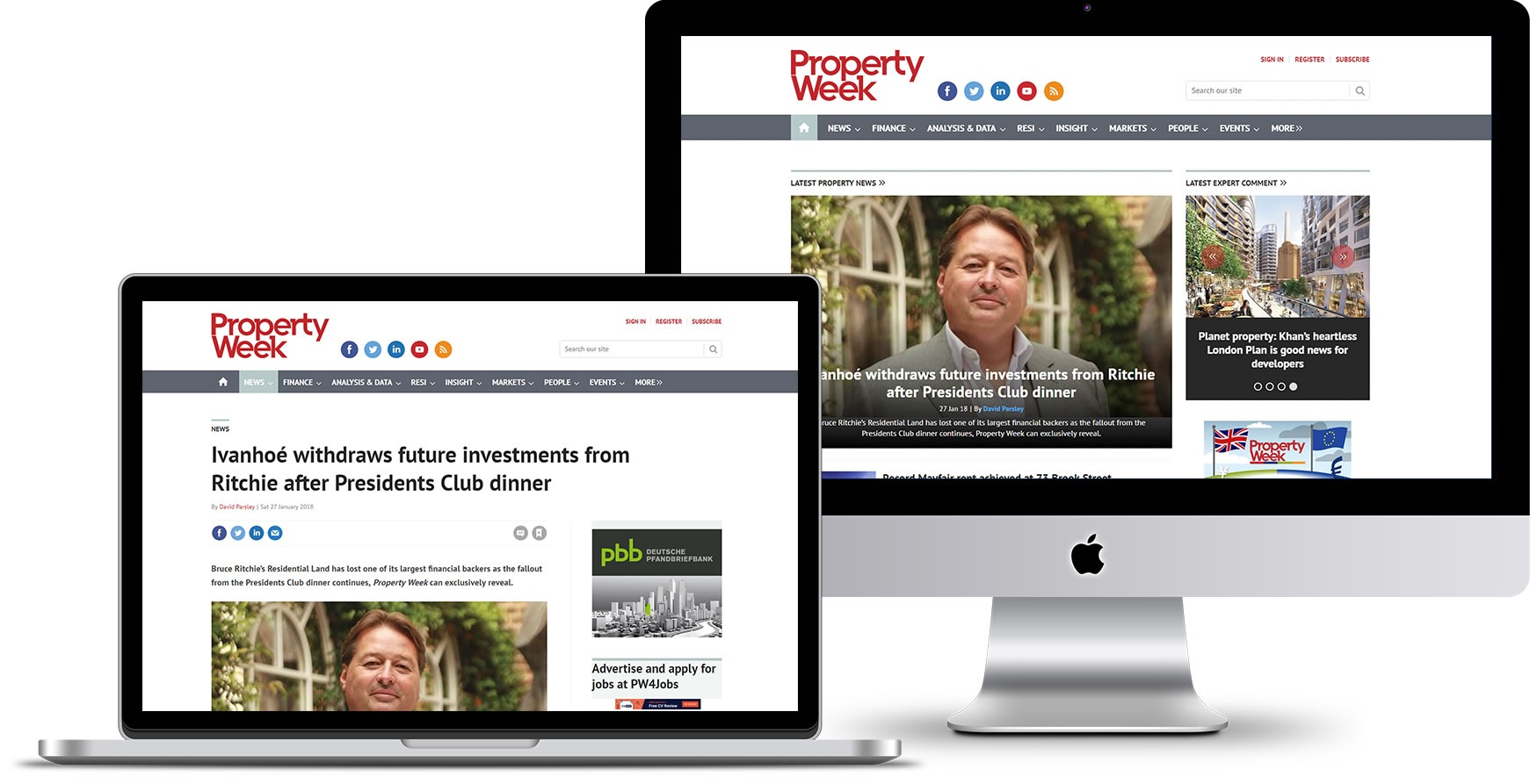 Property Week responsive showcase