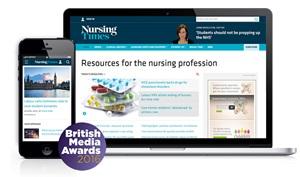 Nursing Times - Website of the Year - British Media Awards 2016