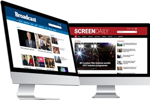 Screen Daily and Broadcast NOw on desktop