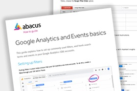 google analytics and events index