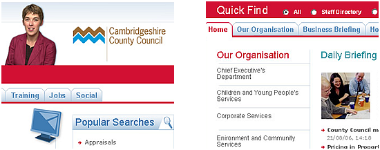 Cambridge County Council Intranet