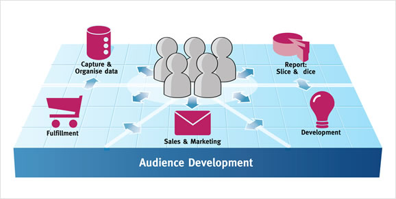 Audience development overview graphic